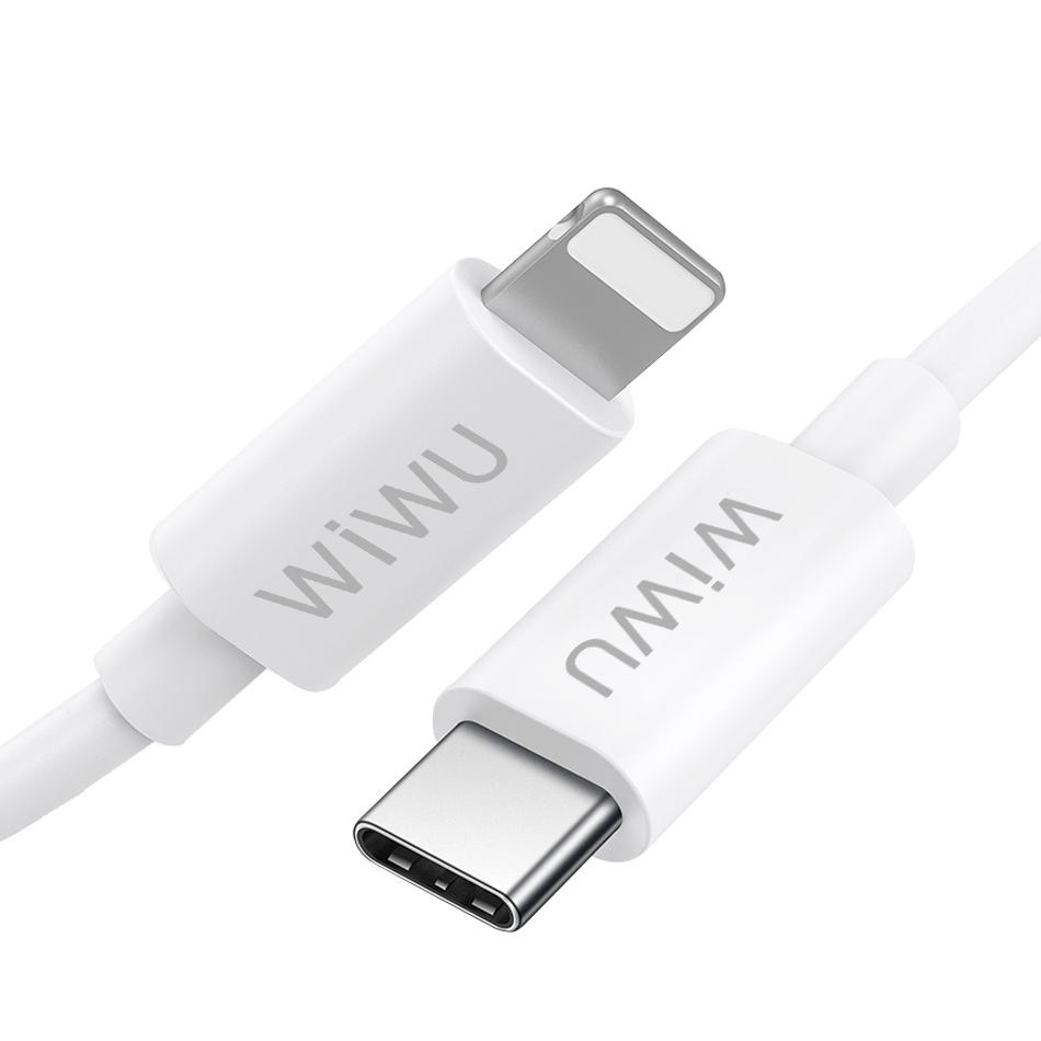 WiWU G90 TPE USB Cable 1.2M 3A fast Charging 20W USB C Quick Sync Power for iPhone12