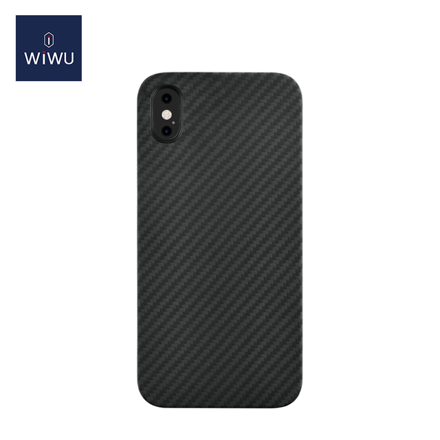 WiWU Skin Carbon Soft PP Phone Case iPhone 12 with Fiber Texture Protective Phone Cover