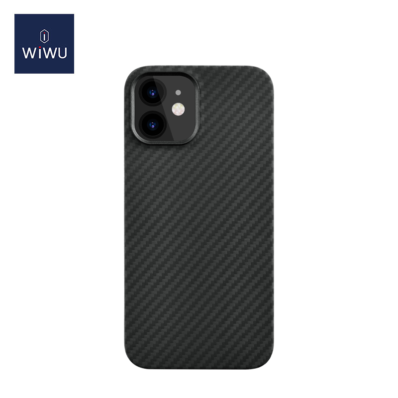 WiWU Carbon Aramid Fiber Cell Phone Case Bulletproof Anti Scratch Shockproof Cover Phone Case