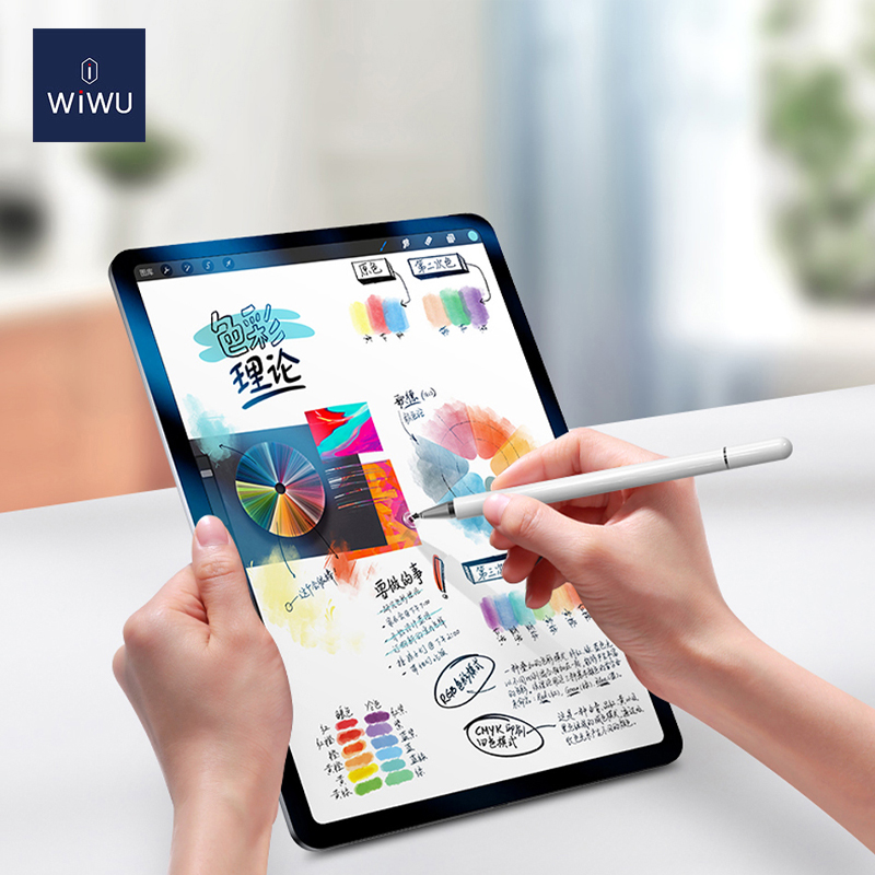 WiWU Pencil One White Aluminum Alloy Touch Screen 2 In 1 Slim Universal Stylus Pen for Smart Phone Tablet Writing Pen