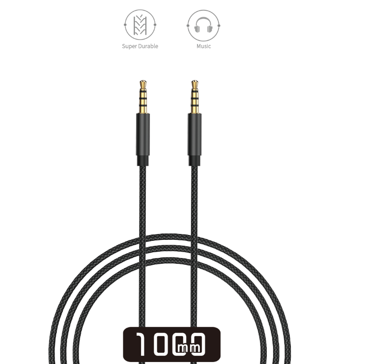 WiWU YP01 Audio Vedio Cable Nylon Aluminum Alloy 3.5mm For Apple Samsung Mobile Devices
