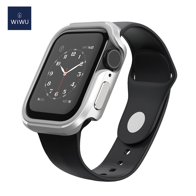 WiWU Defense Case Aluminum Alloy & TPU Frame Shockproof for 38-44mm Watch Anti-scratch Full Protection iWatch Shell